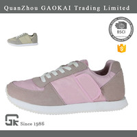 Wholesale cheap mesh lining pink casual sports shoes for women