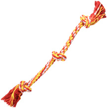 high quality dog pull multi colored cotton lucky play rope toy