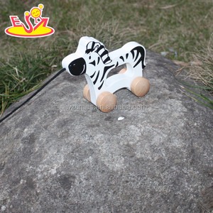 2017 wholesale baby wooden moving animal toy funny kids wooden moving animal toy wooden moving animal toy W05B141