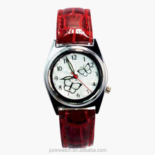 Factory price fashion watches women for wholesale OEM women genuine leather watches butterfly dial unique watch 2016