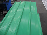 860MM length corrugated green color steel sheets/panels for wall and roof