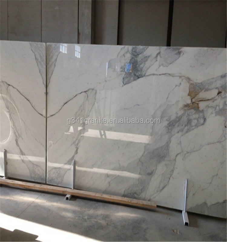 Italy quarry Calcutta white stone Calacatta gold marble slab for bathroom design