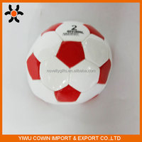 Customized rubber/pvc/tpr No 2 promotional soccer ball