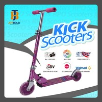 Cool adult foldable kick 2 led wheel aluminium dirt jump scooter deck approved by CE GS JB201A
