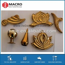 Stainless steel golden ornaments