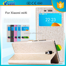 2015 fancy phone holder factory wholesale leather flip case for xiaomi mi4i