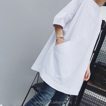 Korea long tail t shirt clothing factories in china long loose fat t shirt Customized Fashion Classical men 100%cotton shirt