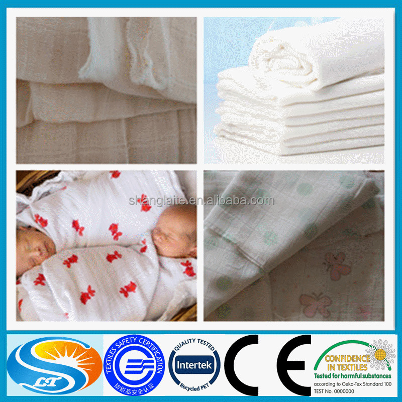 cotton muslin blanket fabric super soft and absorbent diaper fabric for baby