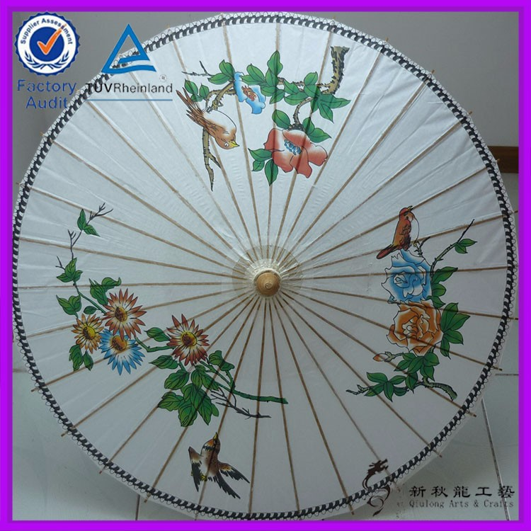 the magpies design oiled paper umbrella for sale