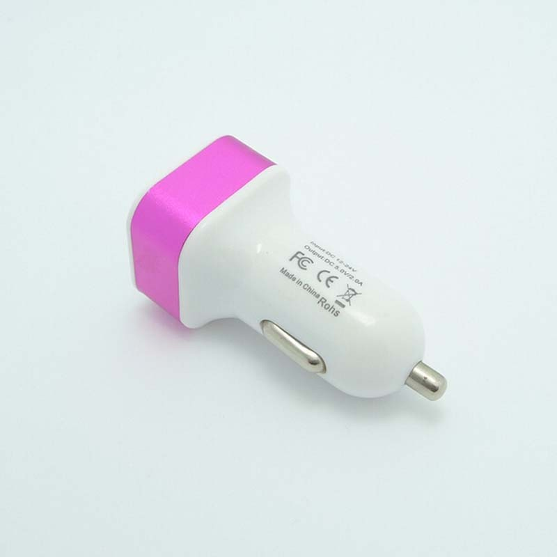 Car cigarette socket powered smarphone 2.1a dual usb port car charger