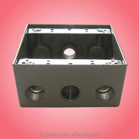 2 gang Aluminum weatherproof junction box with 2 inch depth,4 holes