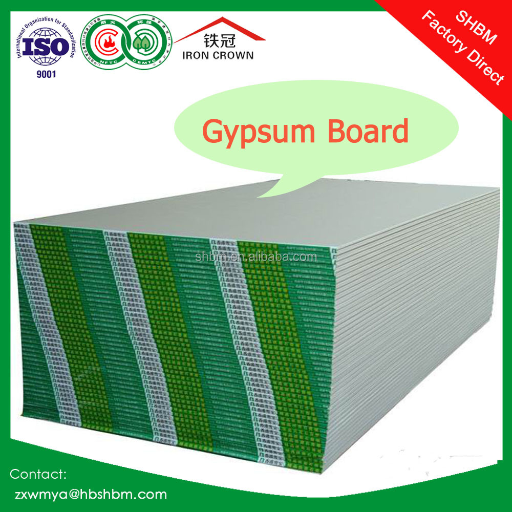 Cheap price FireproofGypsum Board/ Paper Faced Partition Panel Gypsum Board