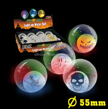 Lighting Toys For Children Bounce To Activate LED Ball Halloween 55 mm Skull High Bouncing LED Floating Water Ball