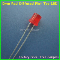 Factory Good Price 5mm Red Diffused Flat Top LED ( CE & RoHS Compliant )