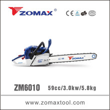 best selling 2 stroke ZM6010 zomax electric start gas chain saw
