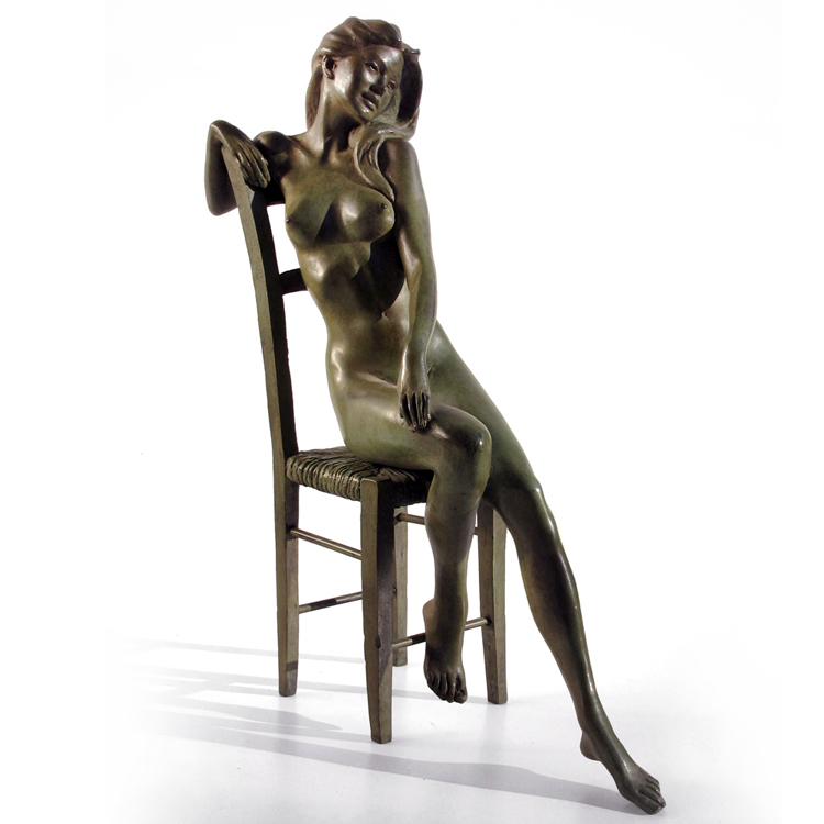 Life size metal bronze beautiful nude girls figures statue naked female woman sculpture