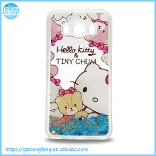 Selling Design Hello kitty Mickey Liquid Glitter Hot Cell Phone Case for Iphone for Quicksand Covers Samsung J510