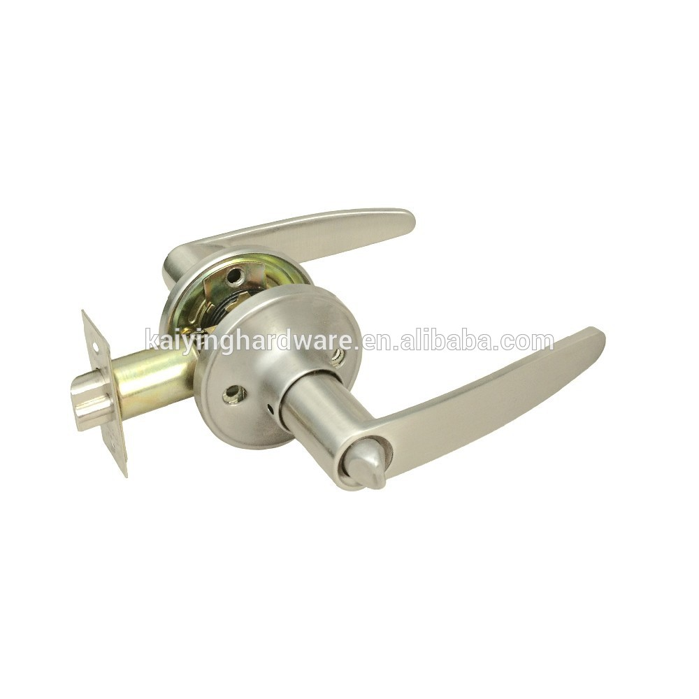 Tubular lever door handle lock zinc alloy safe lock for household, low cost cheap lock KY6491ET-SN