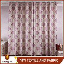 european flower design purple color classical pattern hotel blackout curtain fabric