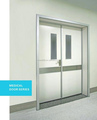 hospital single leaf Door double leaf swing door with air seal and fireproof feature