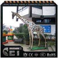 Lively Fiberglass Animal Statue for Home Decoration