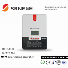 SRNE 12/24V auto 40A mppt regulator solar li-ion charge controller for off-grid solar home system