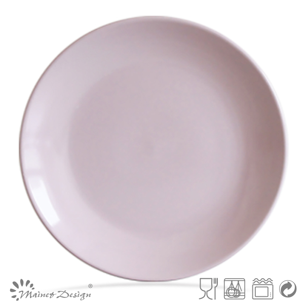 solid light purple plates and dishes