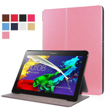 Hot selling high quality product pink flip case diamond pattern tablet cover with front support for Lenovo tab2 A10-30F