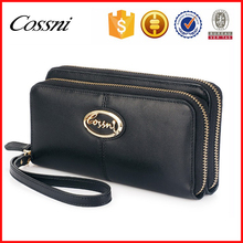 Designer hobo purses for women 2016 vegetable tanned leather wallet cash and phone with double pocket