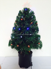 Table Small Artificial Fiber Optic Christmas Tree With Top Star, LED Lights Decoration