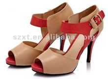 new models shoes ladies fashion 2012 designer high heel shoe for lady