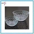 Clear Glass Round Shape Glass Bowl With Patten