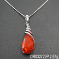 Magnificent Amber Pendant 925 Wholesale Silver Jewellery Handmade Supplier DR032729P