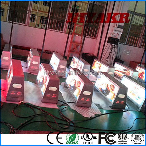 car accessories advertising cab dome topper ad sign and led cab advertising displays from glare-led