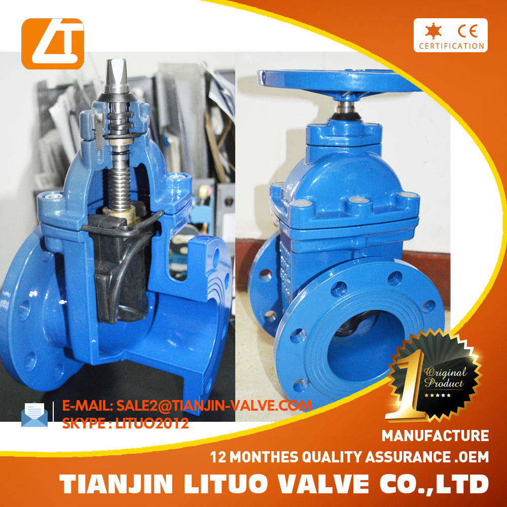 rubber seated 4 inch gate valve non-rising stem 8 inch gate valve sluice gate valve