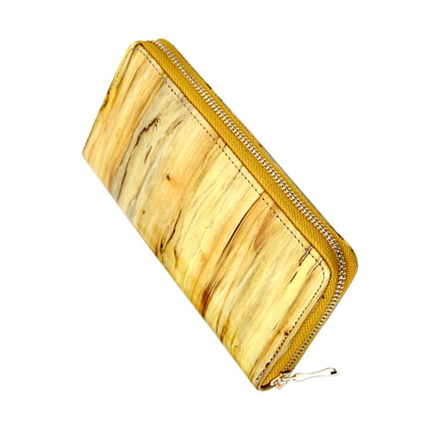 ladies women clutch bag female wooden pu leather wallets purses