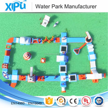 Newest inflatable obstacle course water floating game for sale