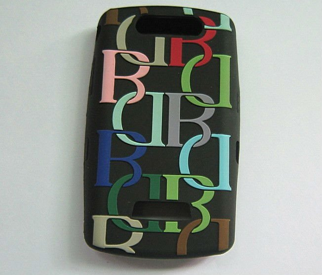 Embossed black silicone phone cover/case for iphone4G