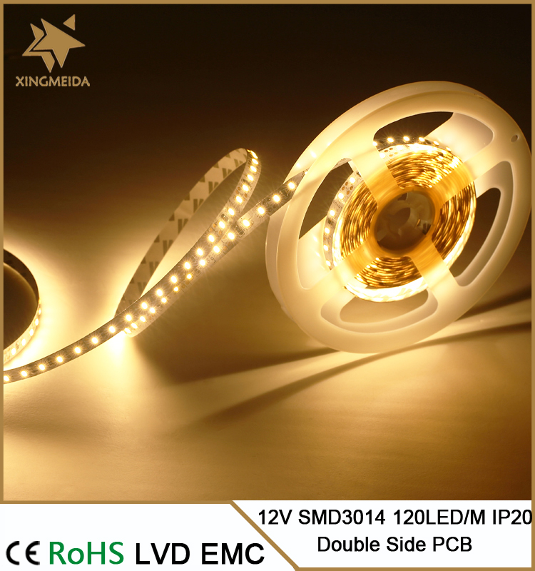 12V SMD 3014 120 LED/M LED lighting solutions for staircase