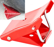 folding trailer metal wheel chocks