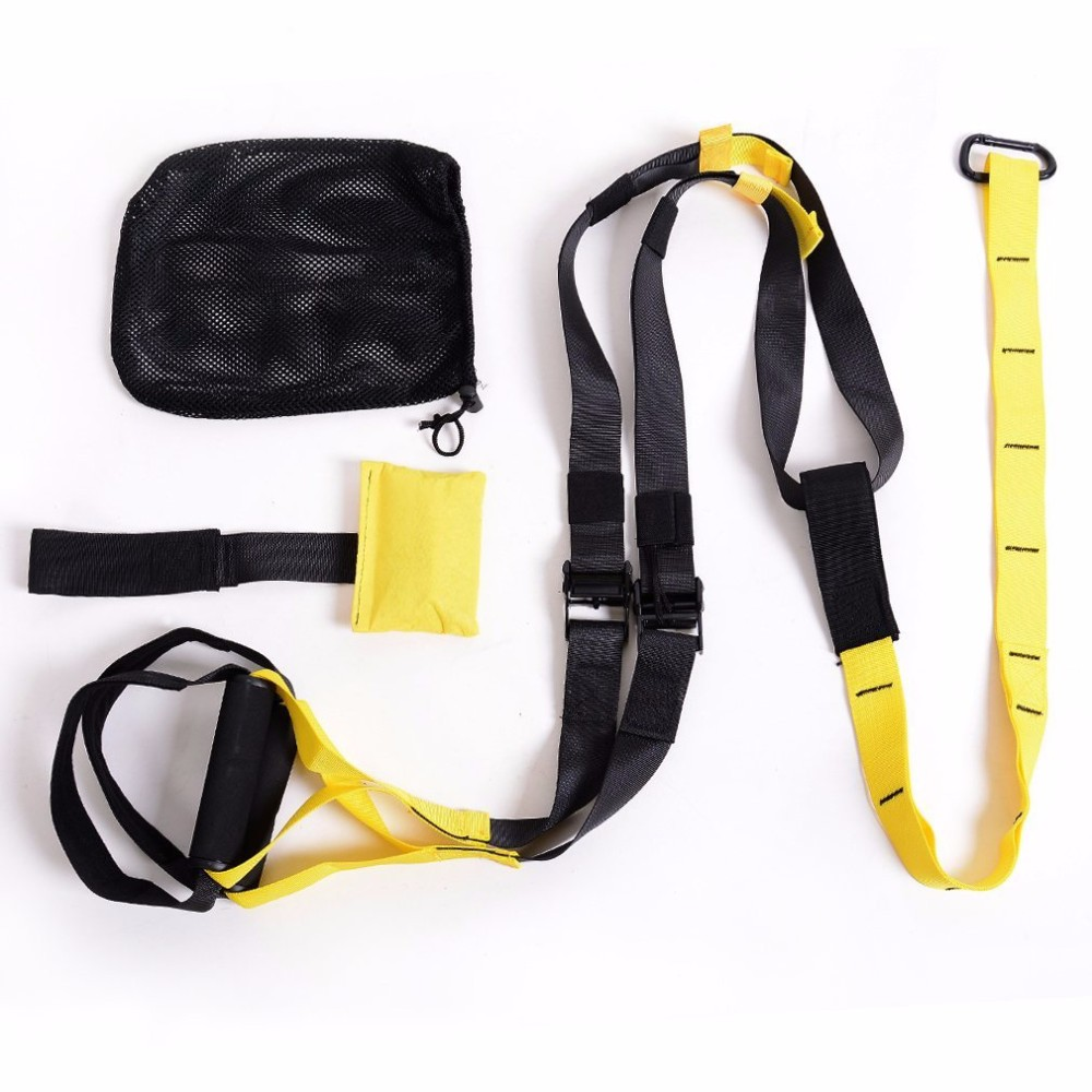PowerTraining Band- Suspension Trainer Basic Kit , Complete Full Body Workouts Kit for Home and on the Road