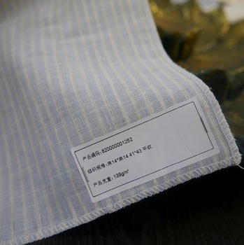 Elegant plain 100% pure linen fabric for shirt and curtains