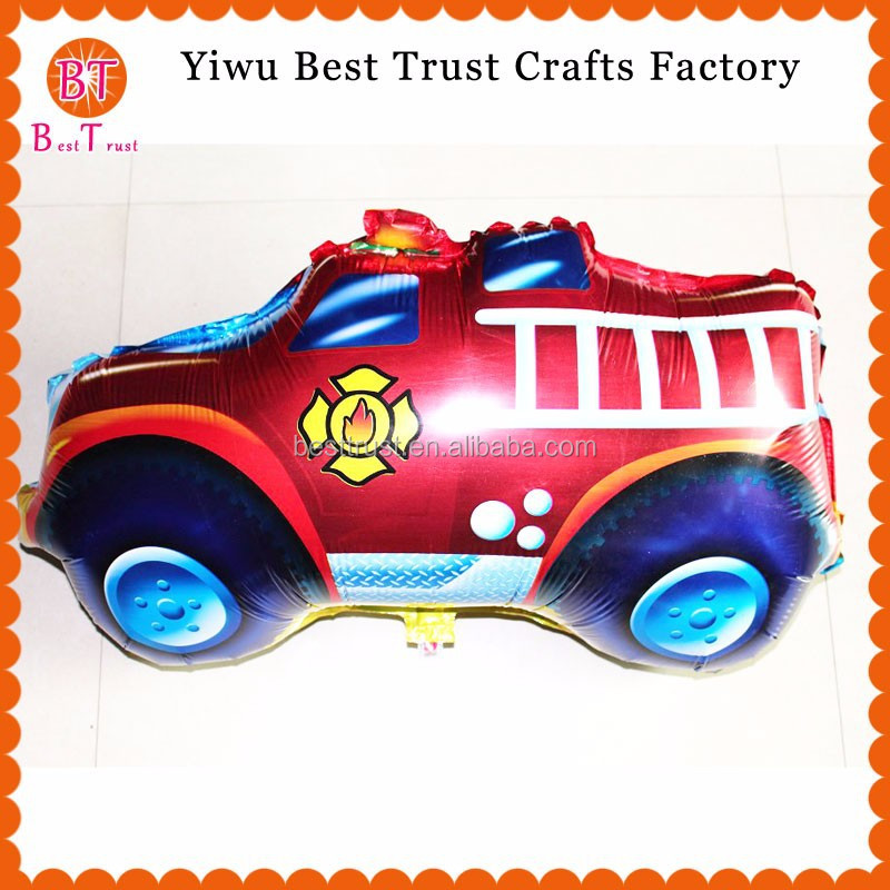 New Design fire fighting truck Shape Mylar Foil Balloons For kids toy and gifts balloon