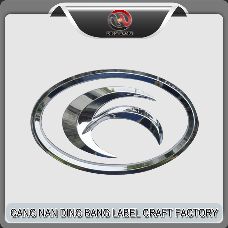 Fashion Design Chrome Car Badges 82MM Roundel Logo Emblem With 3M Adhesive