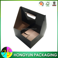 high quality black corrugated cardboard drink carrier