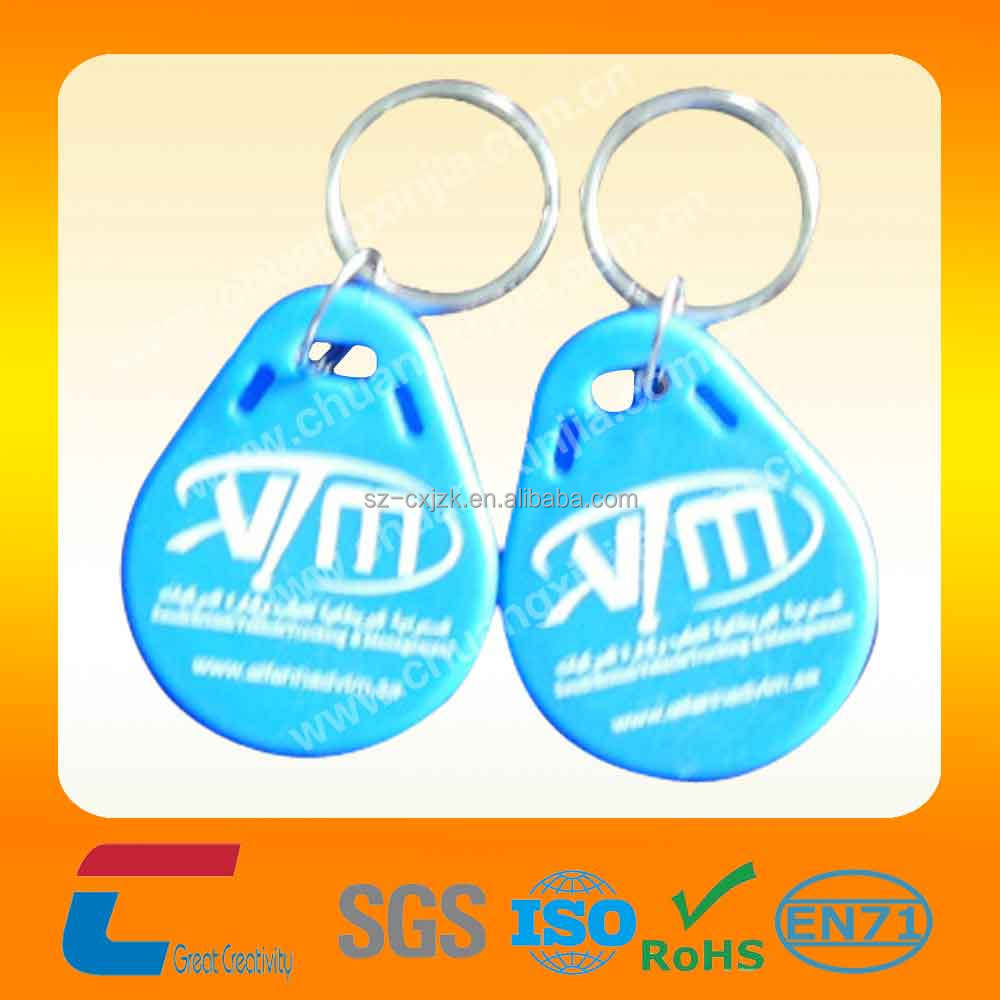 125khz rfid key tag EM4200 chip access control door key tags ABS laser serial number TK4100 RFID key fobs