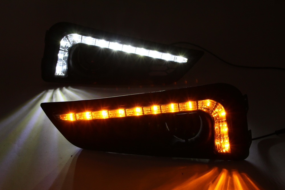 Top Quality Daytime running Light for Honda City 2015 Car LED Light drl with turning light