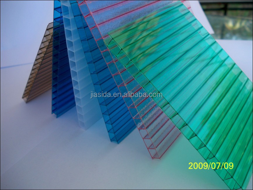 Yuyao Jiasida colored anti-fog polycarbonate hollow sheet