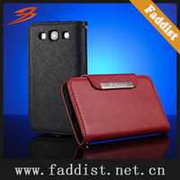 new desing wallet leather case for Samsung Galaxy S3 i9300 taiga pattern