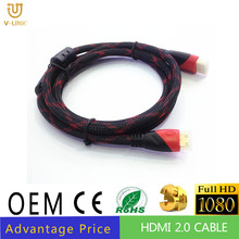 HDTV application Mini HDMI cable 24K Gold plated
